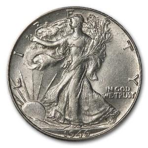 1946-D Walking Liberty Half Dollar AU