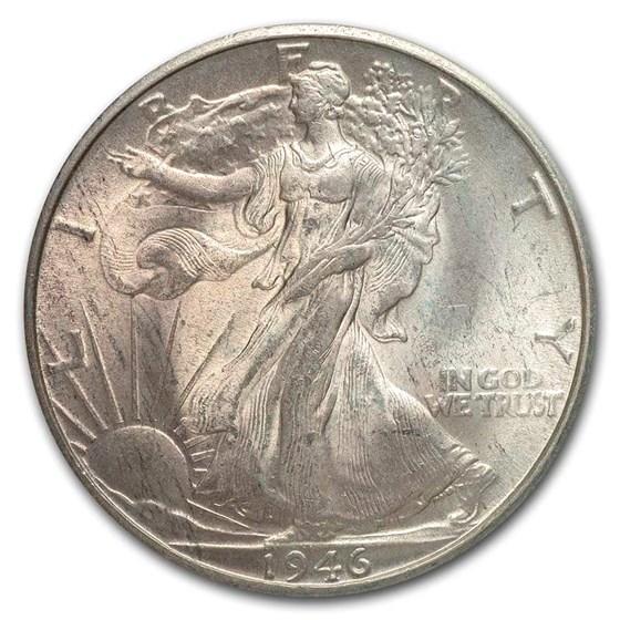 1946-D Walking Liberty Half Dollar Choice BU