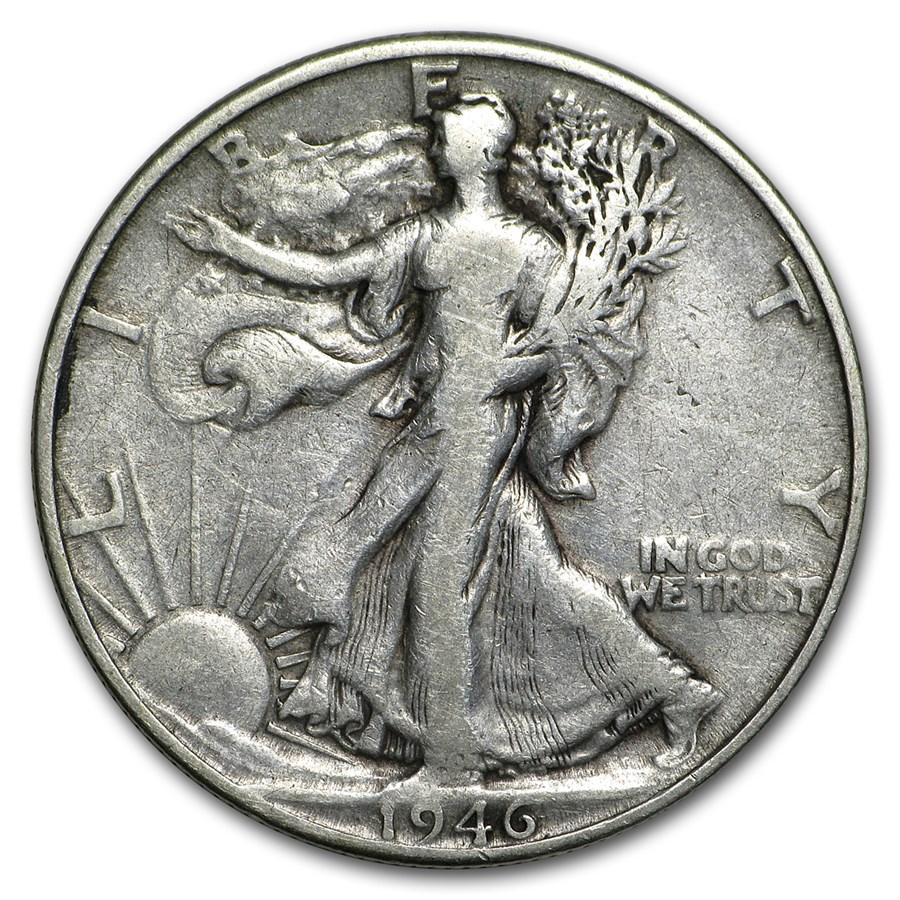 1946-D Walking Liberty Half Dollar Fine/VF