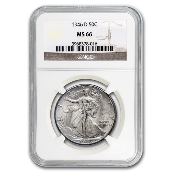 1946-D Walking Liberty Half Dollar MS-66 NGC
