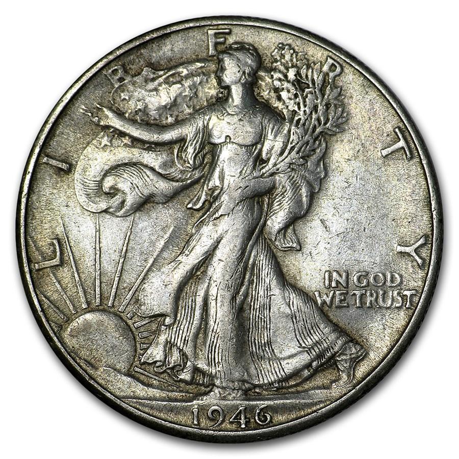 1946-D Walking Liberty Half Dollar XF