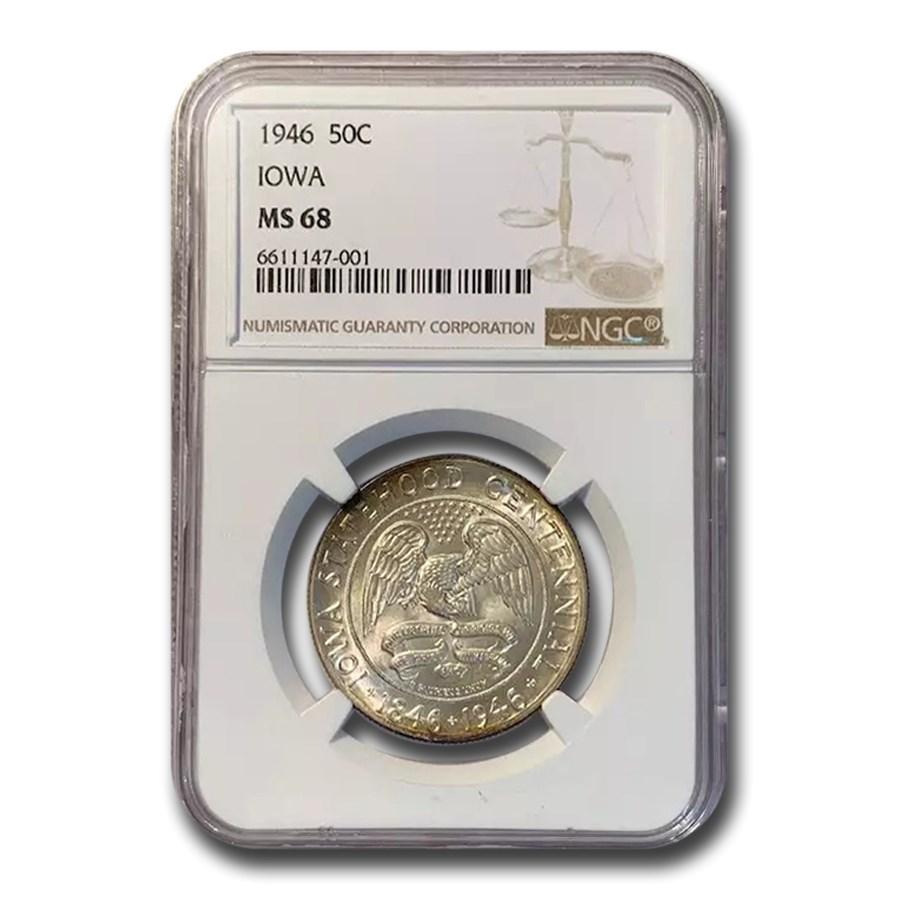 1946 Iowa Centennial Half Dollar Commem MS-68 NGC