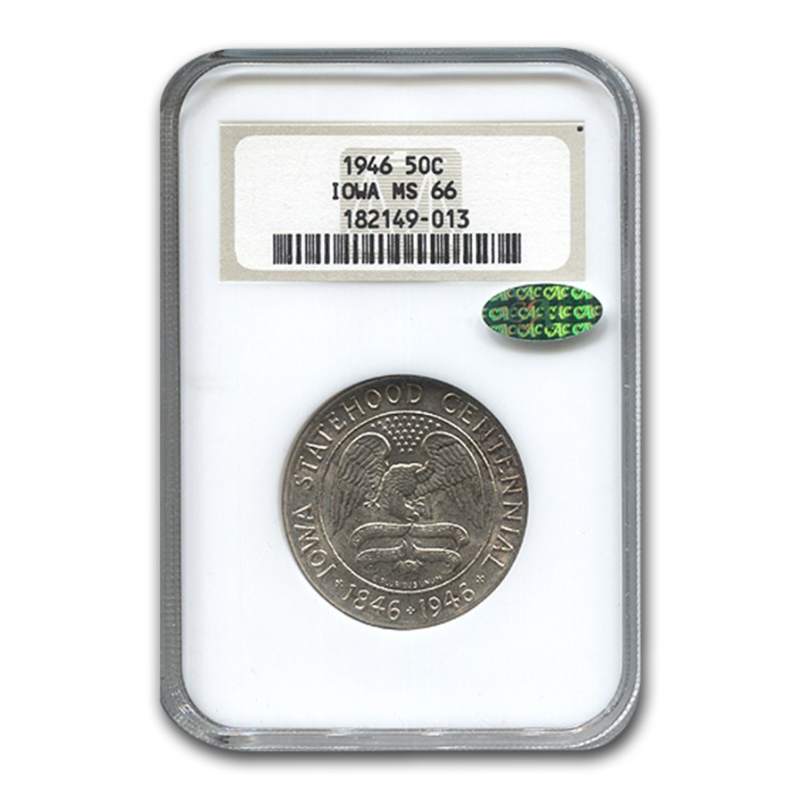 1946 Iowa Centennial Half Dollar MS-66 NGC CAC