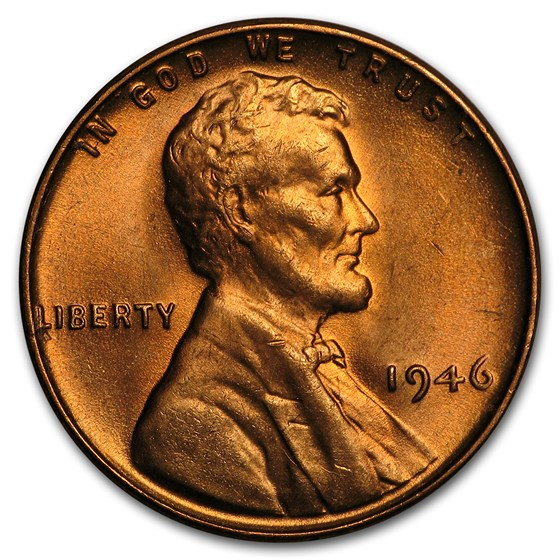 1946 Lincoln Cent BU (Red)