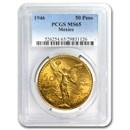 1946 Mexico Gold 50 Pesos MS-65 PCGS