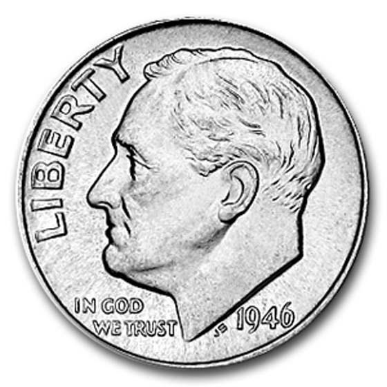 1946 Roosevelt Dime BU