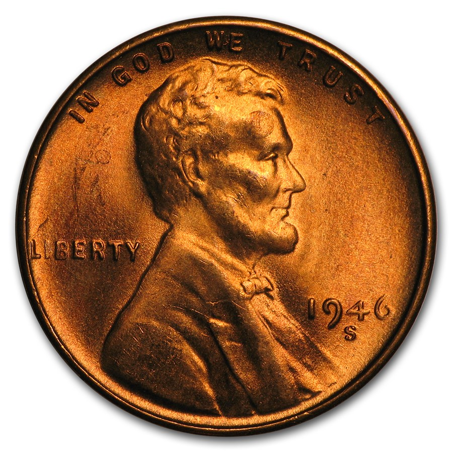 1946-S Lincoln Cent BU (Red)