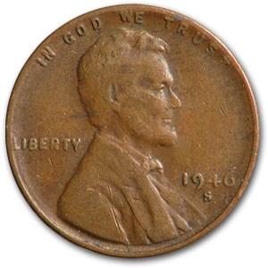1946-S Lincoln Cent Fine+