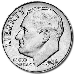 1946-S Roosevelt Dime BU