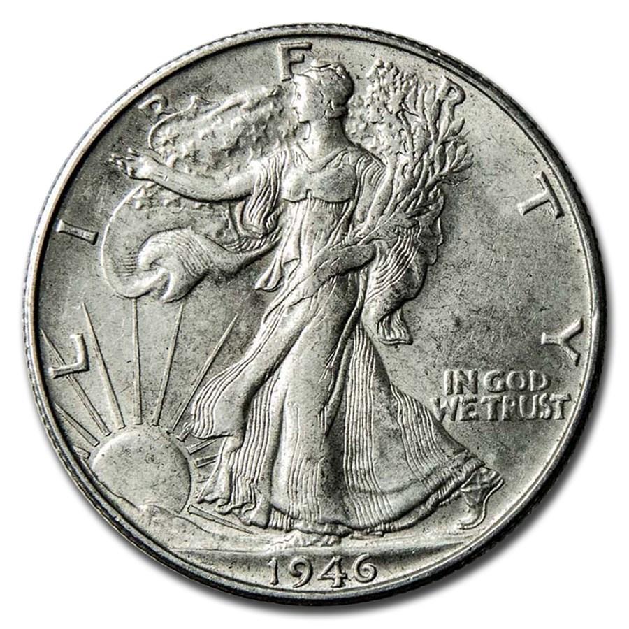 1946-S Walking Liberty Half Dollar AU