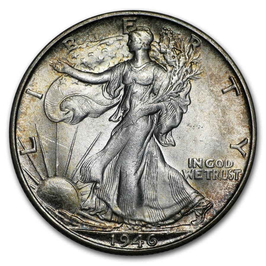 1946-S Walking Liberty Half Dollar BU