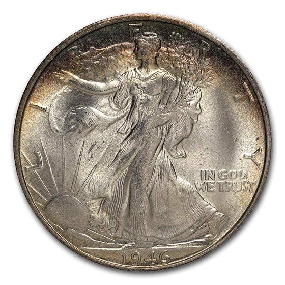 1946-S Walking Liberty Half Dollar Choice BU