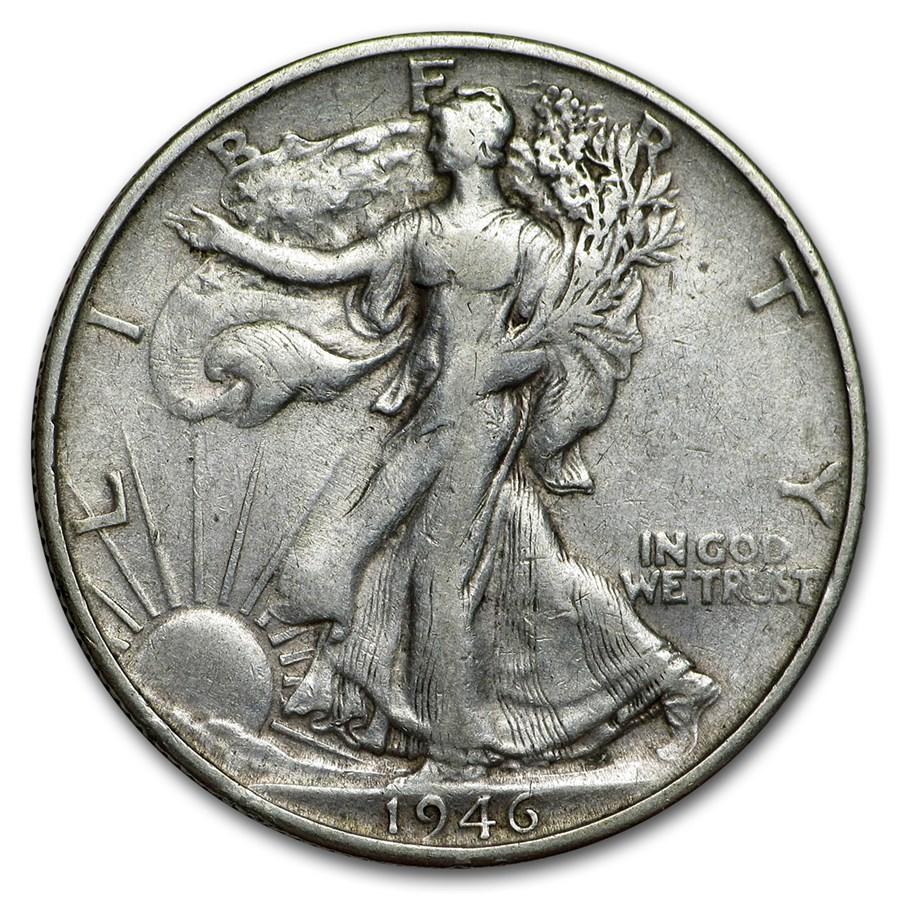 1946-S Walking Liberty Half Dollar Fine/VF