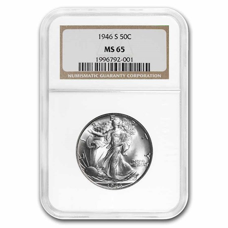 1946-S Walking Liberty Half Dollar MS-65 NGC