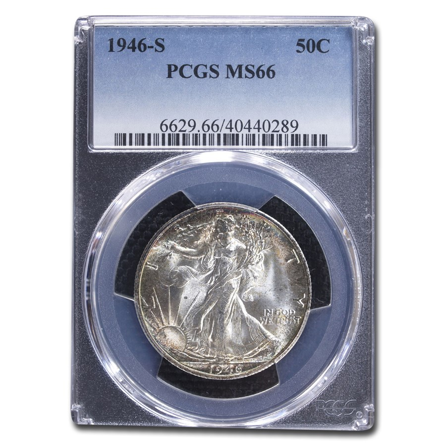 1946-S Walking Liberty Half Dollar MS-66 PCGS