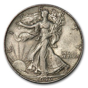 1946-S Walking Liberty Half Dollar XF