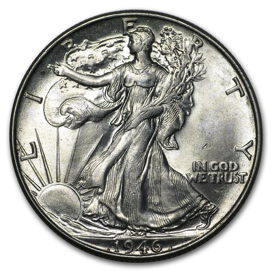 1946 Walking Liberty Half Dollar AU