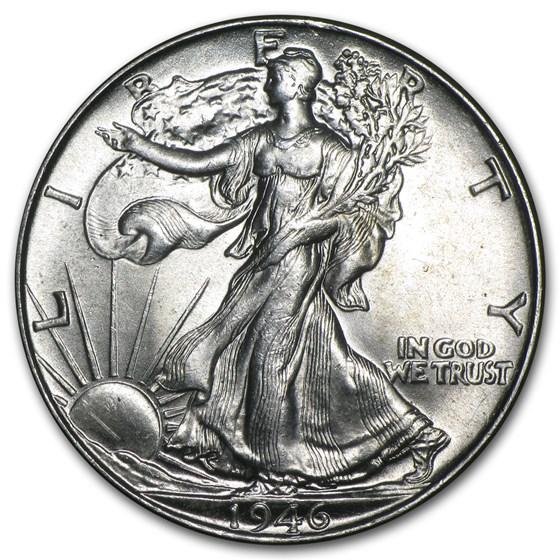 1946 Walking Liberty Half Dollar BU