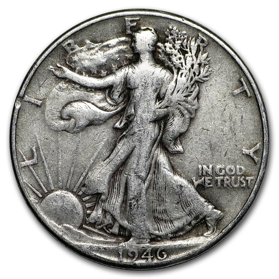 1946 Walking Liberty Half Dollar Fine/VF