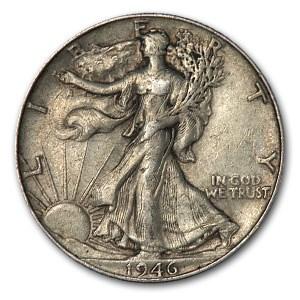 1946 Walking Liberty Half Dollar XF