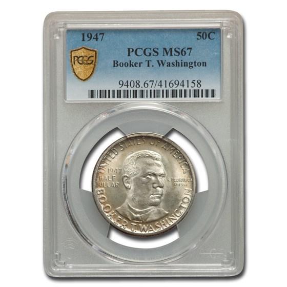 1947 Booker T. Washington Commemorative Half Dollar MS-67 PCGS