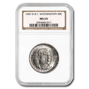 1947-D Booker T. Washington Half Dollar MS-65 NGC
