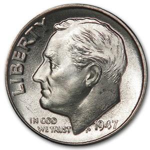 1947-D Roosevelt Dime BU