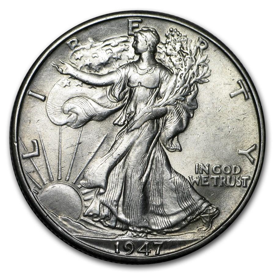 1947-D Walking Liberty Half Dollar BU