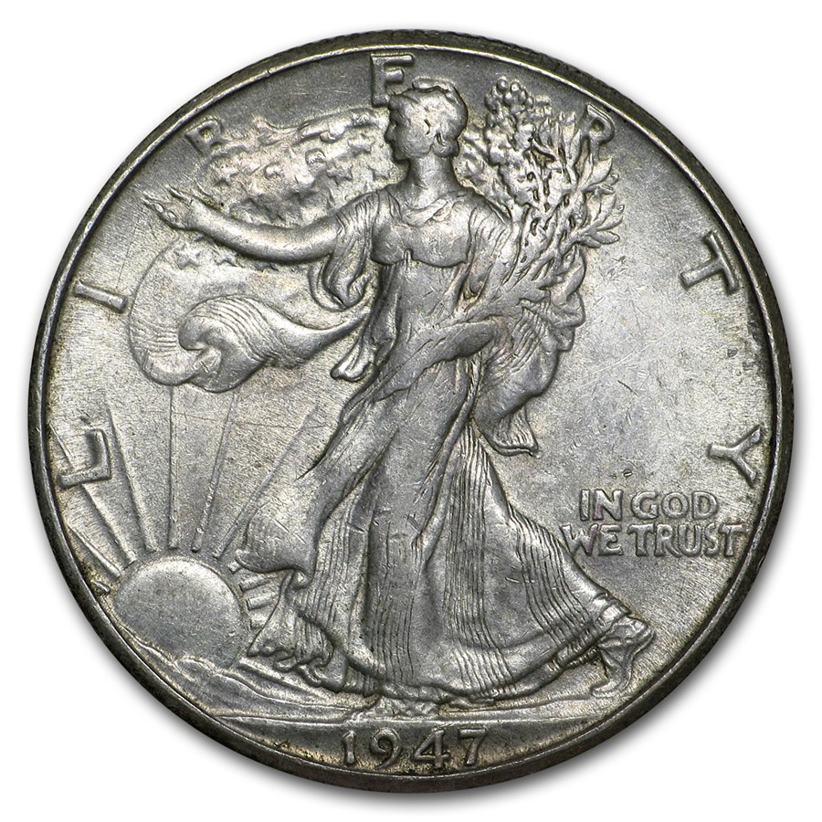 1947-D Walking Liberty Half Dollar XF