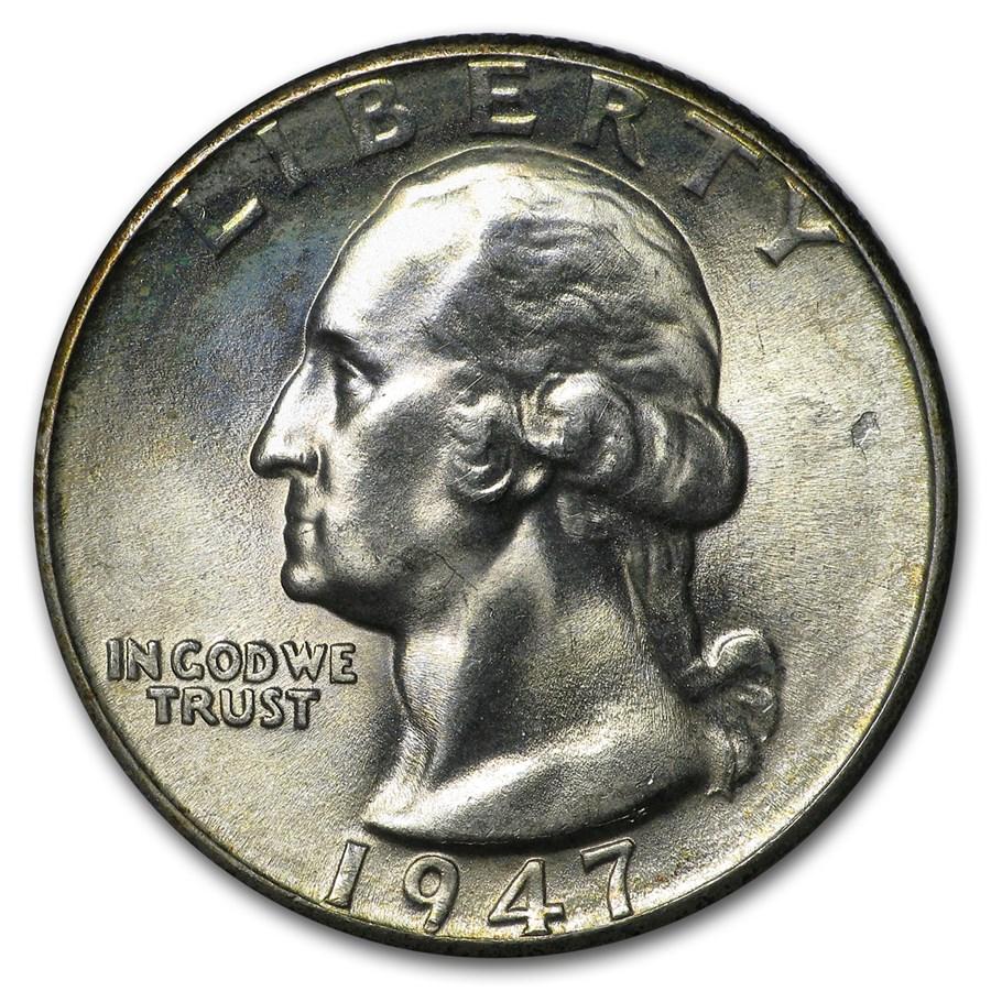 1947-D Washington Quarter BU