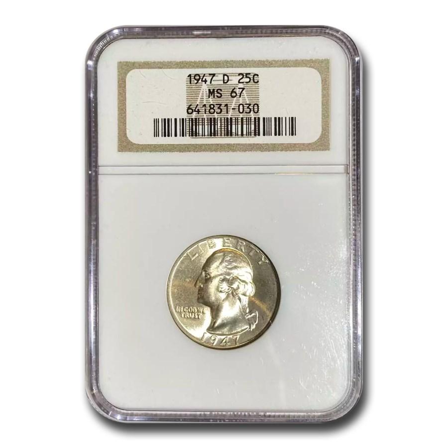 1947-D Washington Quarter MS-67 NGC