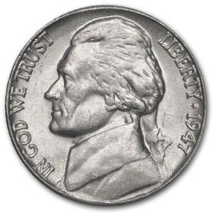 1947 Jefferson Nickel BU