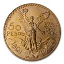 1947 Mexico Gold 50 Pesos BU (New Dies Restrike)