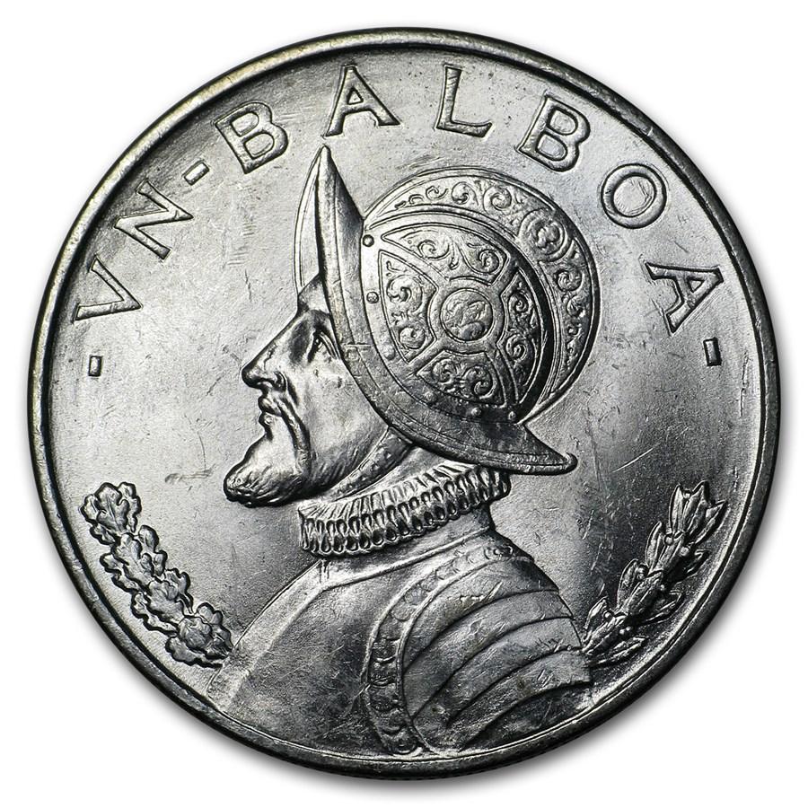 1947 Panama Silver Balboa BU