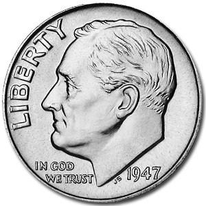 1947-S Roosevelt Dime BU