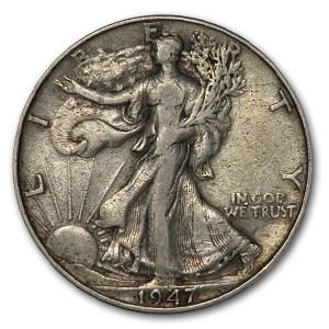 1947 Walking Liberty Half Dollar Fine/VF
