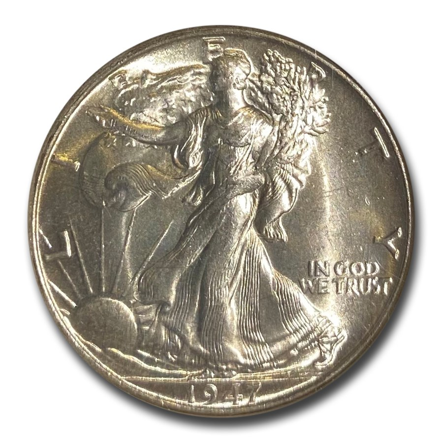 1947 Walking Liberty Half Dollar MS-66 NGC