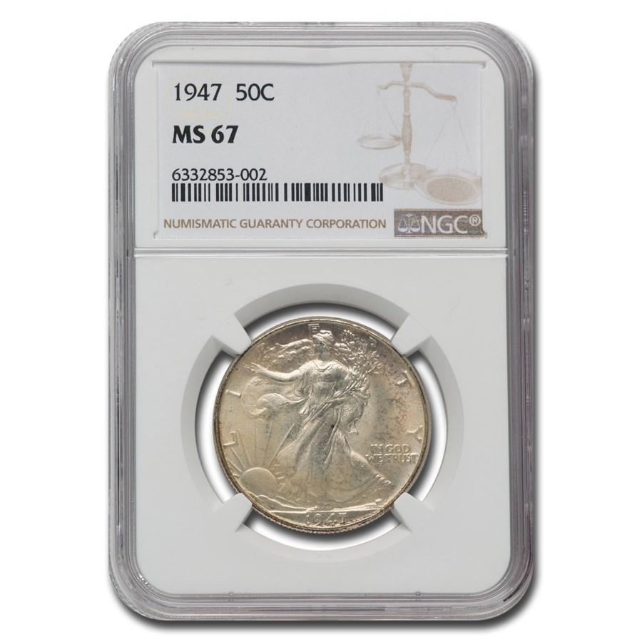 1947 Walking Liberty Half Dollar MS-67 NGC