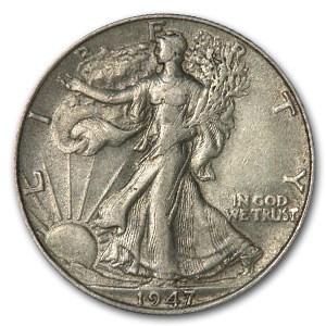 1947 Walking Liberty Half Dollar XF