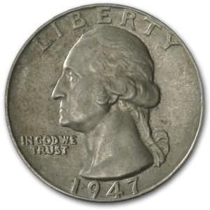 1947 Washington Quarter AU