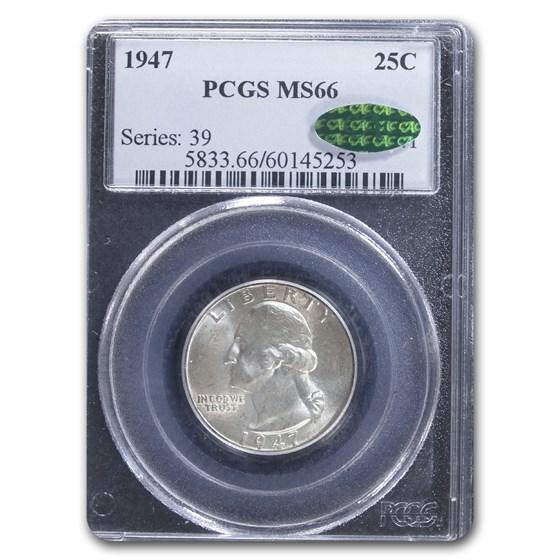 1947 Washington Quarter MS-66 PCGS CAC
