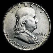 1948-1963 Franklin Half Dollar AU