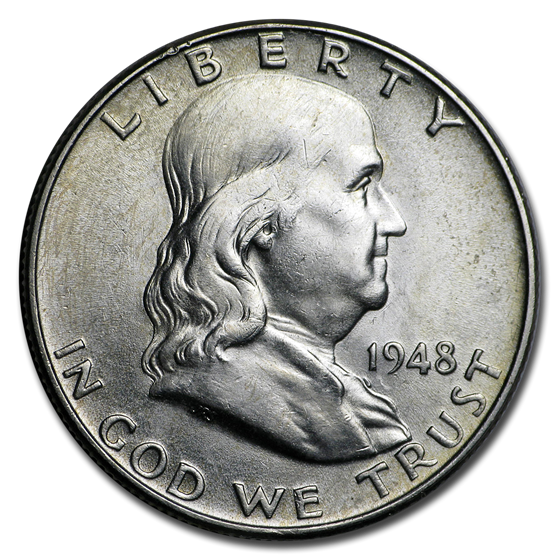 1948-1963 Franklin Half Dollar AU