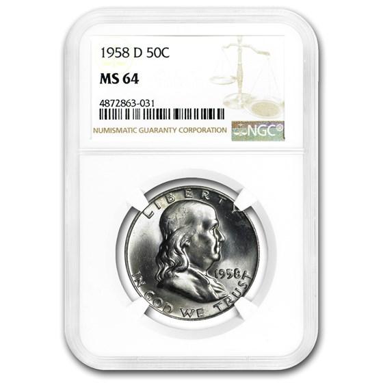 1948-1963 Franklin Half Dollar MS-64 NGC (Random)