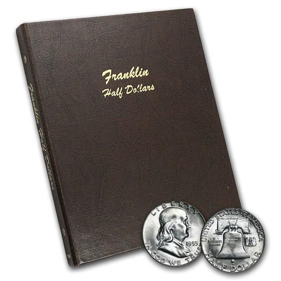 1948-1963 Franklin Half Dollar Set BU (Dansco Album)