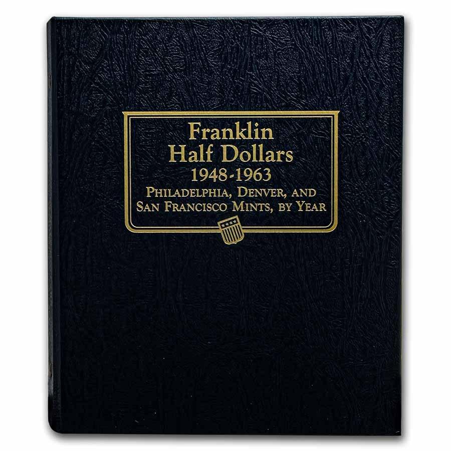 1948-1963 Franklin Half Dollar Set BU (Whitman Album)