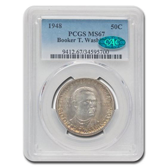 1948 Booker T. Washington Half Dollar MS-67 PCGS CAC