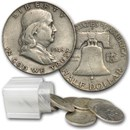 1948-D Franklin Half Dollar 20-Coin Roll Avg Circ