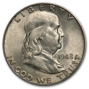 1948-D Franklin Half Dollar AU