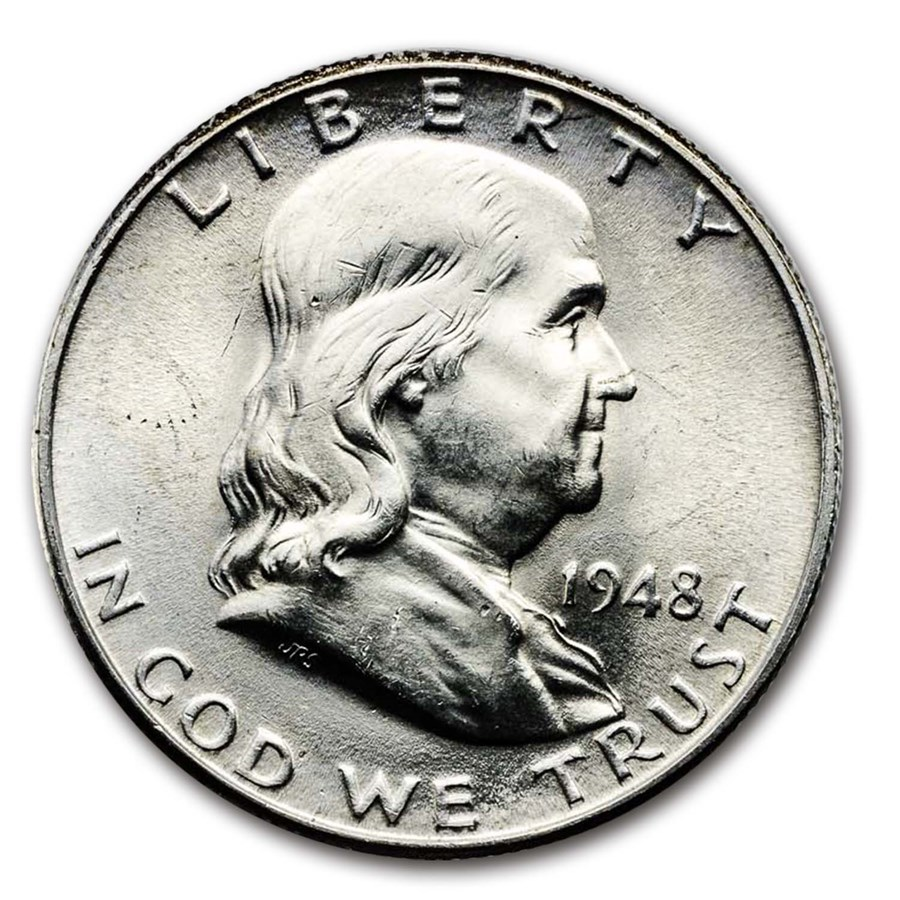 1948-D Franklin Half Dollar BU